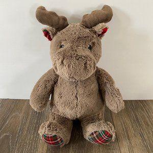 Cloud B Moose Plush Dream Hugginz Holiday Plaid